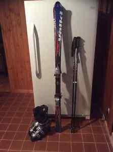 Ski parabolique volkl botte et batton