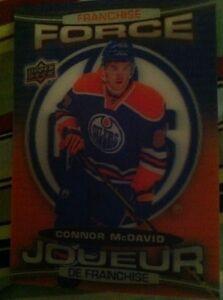 Connor McDavid Tim Horton hockey card FF-4