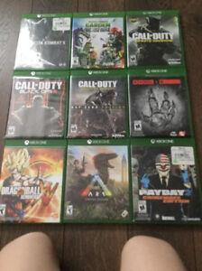 Lot de jeux x box one