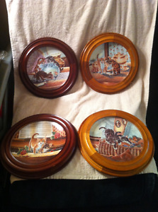 4 Knowles Collector Plates.