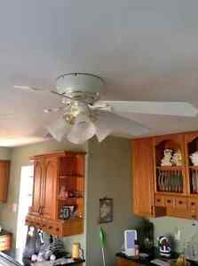 """48"""" Harbour Breeze fan with light, just changing, works great. London Ontario image 1"""