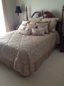 Gorgeous Queen bedspread, skirt and shams