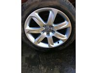 """Genuine audi 18"""" alloys and tyres"""