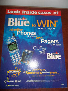 2000 Blue Beer Sign with an unopened vintage pager fromthe case. Windsor Region Ontario image 1