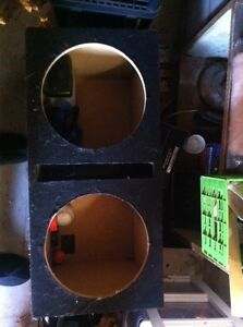 Dual 12 inch carpeted ported box