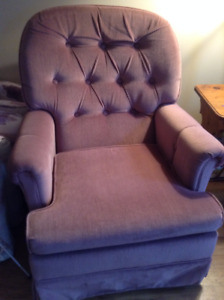 Cushioned rocking chair- Awesome condition and super comfy!
