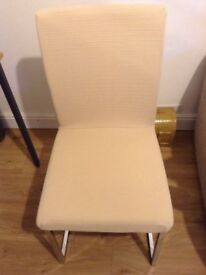 Pair dining chairs need covering