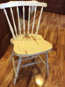 Old hardwood chair