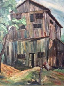 Edith Smith vintage oil painting