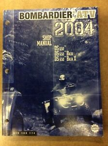 SHOP MANUAL CAN AM 04 DS 650
