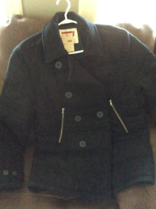Brand new Men's Large  Levi's doubled breasted peacoat
