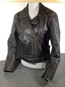 Firstgear leather motorcycle jacket - M