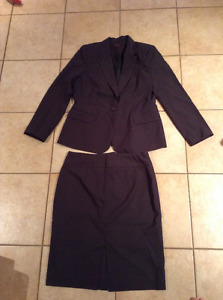 New charcoal grey skirt suit