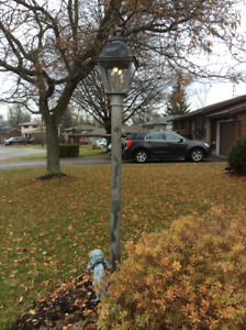 Natural gas outdoor post lamps
