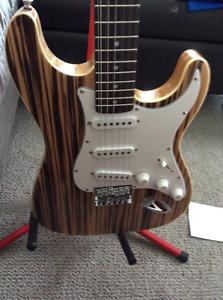 Zebra Stratocaster TWELVE string