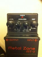 Metal zone MT-2 distortion pedal