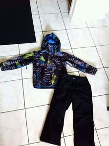 Boys quicksilver winter jacket and burton pants