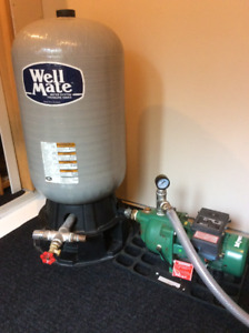 Myers 1/2 HP Jet Pump and 20 Gal Well Mate Pressure Tank
