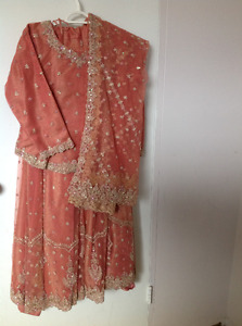 Indian Three Pieces Gown - Lehenga