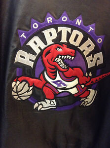 Vintage Leather - Raptors Jacket - XL - Purple & Black