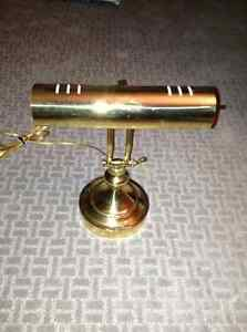 Excellent condition brass piano lamp for sale