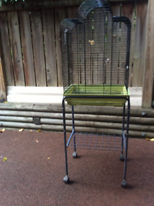 Nice bird cage on a stand with casters! Price reduced to 35.00