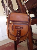 Leather cross body small bag