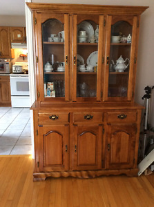 China Cabinet & Couch & Ottoman