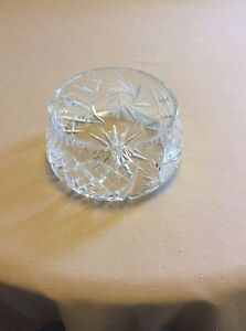 Vintage Pinwheel Crystal Salad/Fruit Bowl