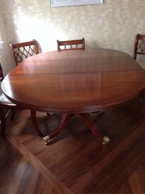 Antique Wade Dining Table and 6 Chairs