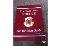 Key stage 3 science revision guide by CGP.