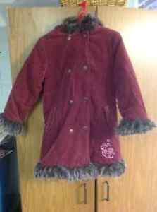 Manteau corduroy rouge vin