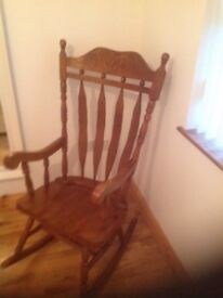 Unique Solid hardwood rocking chair