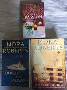 3 Nora Roberts books for $10