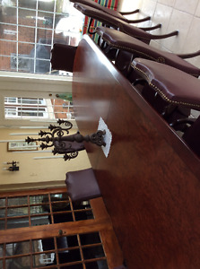 Boardroom conference table and chairs