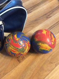 Boules de bowling avec sac de transport