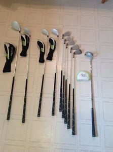 2 sets of golf clubs