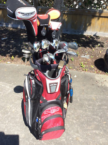Taylor Made Clubs, Bag, Rolling Cart and Travel Bag