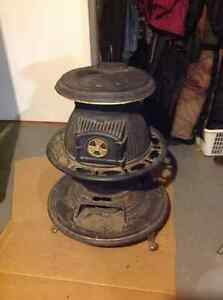 ANTIQUE POTBELLY STOVE