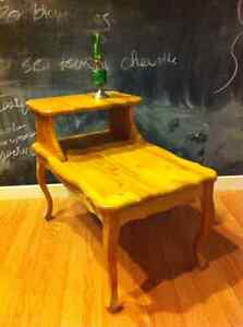 Solid maple, hand-crafted side table