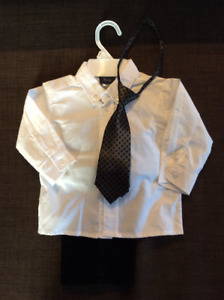 Black Pant, White Dress Shirt & Tie