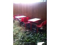5 SETS RESTAURANT SEATING CHAIRS TABLES