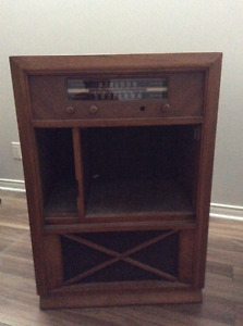 Antique Radio Cabinet