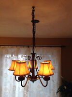 Black iron Ceiling lamp