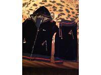 Blue velour Gucci track suit size 14.