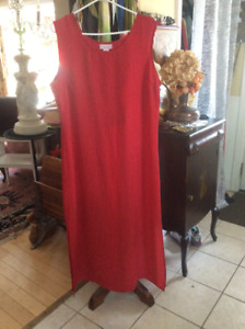 Women's tops, skirts, a house coat, pants and dresses.