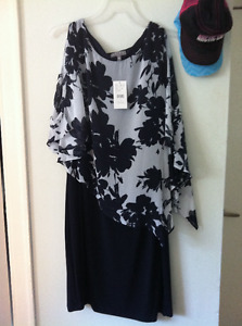 size 20 navy blue and white Laura dress NWT
