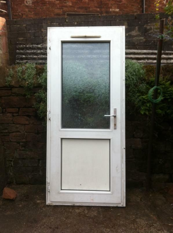 White upvc back door right handed pvc in penrith for White back door