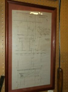 drafting print of fireplace