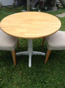 Small Round Pedestal Table 36 inches Diameter